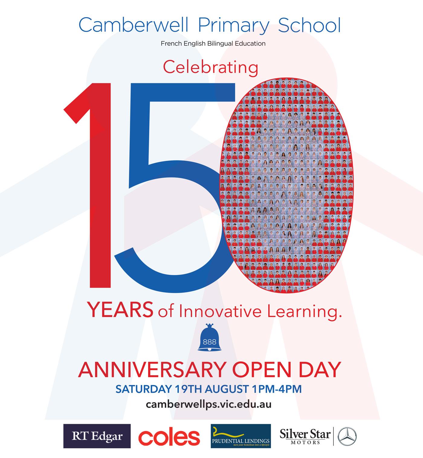 Camberwell Primary School 150 Years Anniversary Open Day