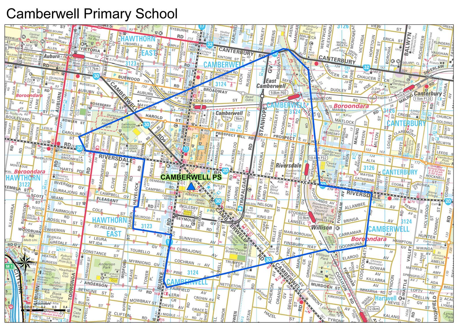 Camberwell Primary School Zone Until 2019
